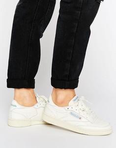 Винтажные белые кроссовки Reebok Club C 85 Court - Кремовый