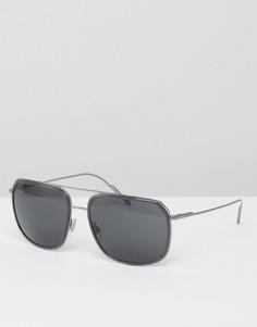 Солнцезащитные очки-авиаторы в квадратной оправе Dolce & Gabbana - Серебряный