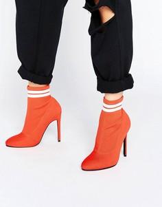 Сапоги с эластичной вставкой в виде носка ASOS EKRON - Красный