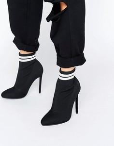 Сапоги с эластичной вставкой в виде носка ASOS EKRON - Черный