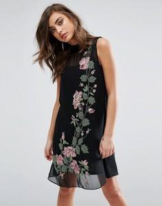 Цельнокройное платье с отделкой Miss Selfridge - Мульти