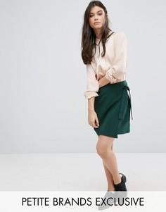 Мини-юбка с запахом спереди Alter Petite - Зеленый