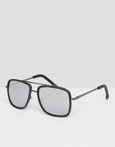 Солнцезащитные очки-авиаторы с зеркальными стеклами Quay - Черный