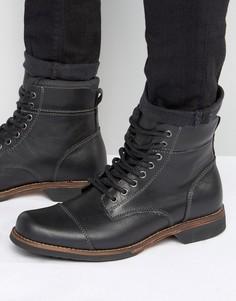 Кожаные ботинки на шнуровке ALDO Swithbert - Черный