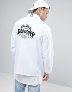 Спортивная куртка с принтом на спине HUF x Thrasher - Белый