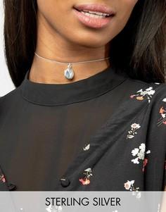 Серебряное ожерелье-чокер с медальоном ASOS - Серебряный