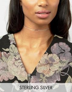 Серебряное ожерелье-чокер с покрытием из розового золота ASOS - Серебряный