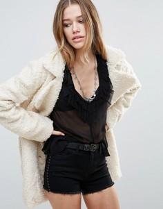 Фактурное пальто Raga Winter Wanderlust - Кремовый