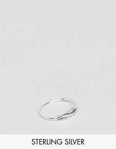 Серебряное кольцо в виде пера ASOS - Серебряный