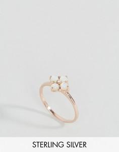 Кольцо с покрытием розовым золотом ASOS - Медный