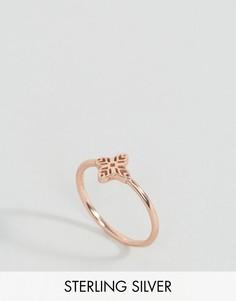 Серебряное позолоченное кольцо с филигранным дизайном ASOS - Медный