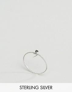 Витое серебряное кольцо ASOS - Серебряный