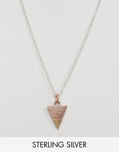 Серебряное ожерелье-цепочка с треугольником ASOS - Мульти