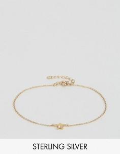 Браслет из позолоченного серебра со звездочкой ASOS - Золотой