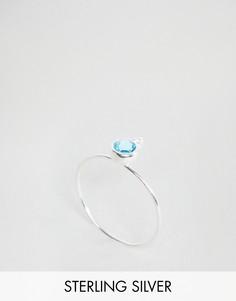 Серебряное кольцо с камнем для родившихся в марте ASOS - Синий