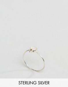 Серебряное кольцо с камнем для родившихся в октябре ASOS - Мульти