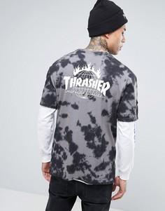 Футболка с принтом тай-дай HUF x Thrasher - Черный