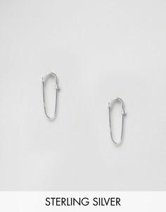 Серебряные серьги в форме булавок ASOS - Серебряный