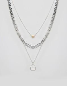 Многослойное ожерелье Nylon - Серебряный