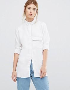 Белая рубашка с длинными рукавами Waven Laure - Белый