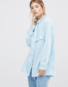 Голубая рубашка с длинными рукавами Waven Laure - Синий