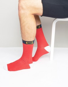 Новогодние носки расцветки костюма Санты SSDD - Красный