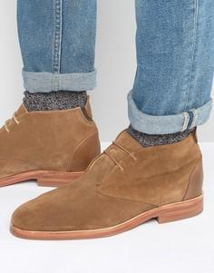 Замшевые ботинки чукка Hudson London Matteo - Рыжий