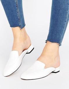 Балетки с квадратным носком ASOS LASHES - Белый