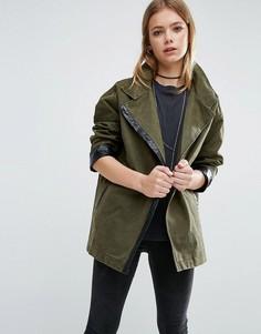 Куртка в стиле милитари Goldie Existance - Зеленый