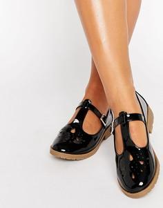 Туфли на плоской подошве ASOS MONTREAL - Черный