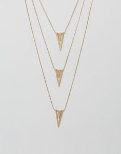 Многослойное ожерелье Nylon - Золотой