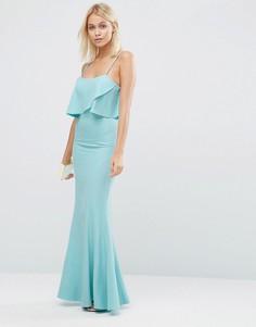 Платье макси с накладкой Jarlo Rumer - Синий