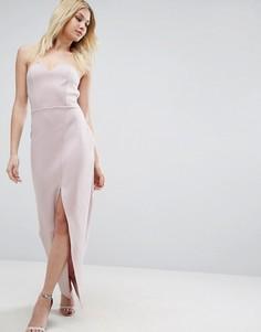 Асимметричное платье-бандо макси ASOS - Фиолетовый