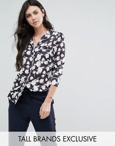 Рубашка в пижамном стиле с цветочным принтом Alter Tall - Мульти
