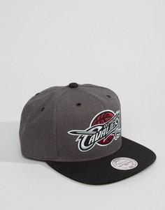 Бейсболка Mitchell & Ness G3 Cleveland Cavaliers - Серый