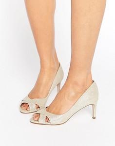 Золотистые туфли на среднем каблуке ASOS SAGE - Золотой