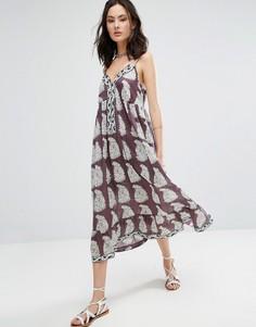 Платье макси с принтом пейсли Raga Delilah Enlarged - Фиолетовый