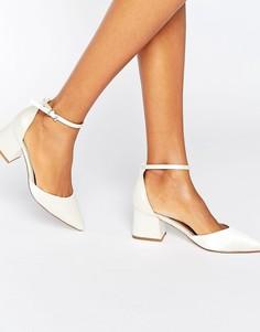 Остроносые туфли на каблуке ASOS STARLING - Кремовый