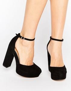 Туфли на блочном каблуке и платформе ASOS PARODY - Черный