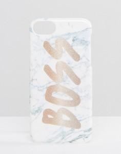 Чехол для iPhone 6/6S/7 с мраморным эффектом и принтом Boss Skinnydip - Мульти