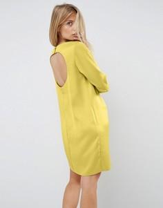 Платье мини с открытой спиной ASOS - Золотой