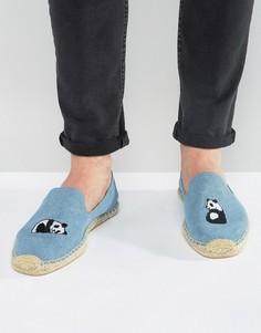 Эспадрильи с вышивкой панды Soludos - Синий