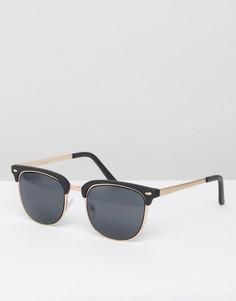 Солнцезащитные очки в стиле ретро ASOS - Черный