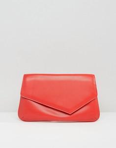 Асимметричный клатч ASOS - Красный