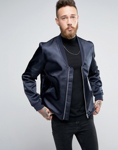 Темно-синяя куртка-пилот ASOS - Темно-синий