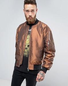 Двухцветная куртка-пилот ASOS - Оранжевый