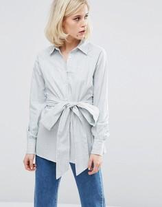 Стираная полосатая рубашка Lost Ink - Мульти