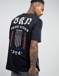 Oversize-футболка с принтом на спине ASOS - Черный
