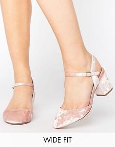 Туфли на каблуке для широкой стопы ASOS SKYBOUND - Розовый