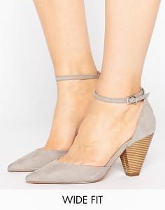 Туфли на каблуке для широкой стопы ASOS OLIVIA - Серый